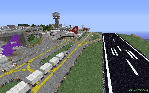 Скрин №2 карта для майнкрафт 1.5.2 аэропорт